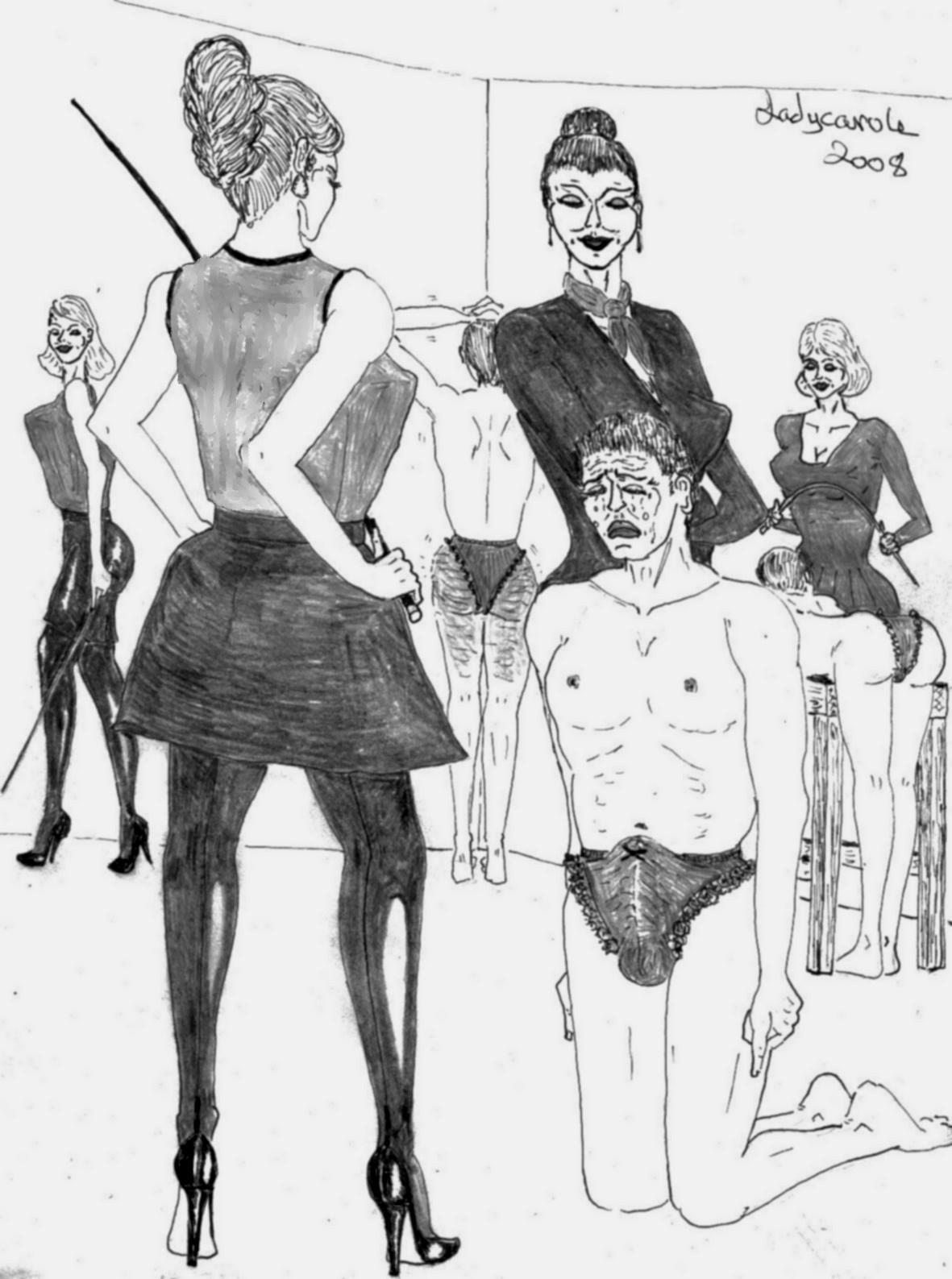 Femdom lady carole drawings